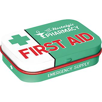 First Aid Nostalgic Sugar Free Mint Tin - Cracker Filler Gift