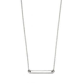 Joshua James Silver Engravable Id Bar 52cm Necklace