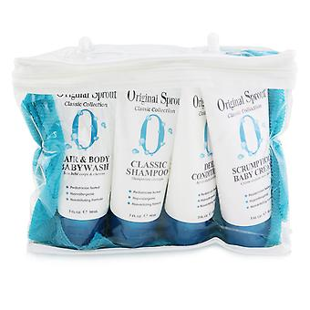 Classic collection deluxe travel kit: shampoo 90ml + conditioner 90ml + baby wash 90ml + baby cream 90ml + washcloth 1pc 252101 4pcs+1washcloth