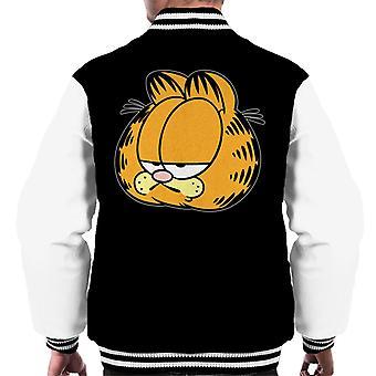 Garfield uttråkad raka ansikte män ' s Varsity jacka