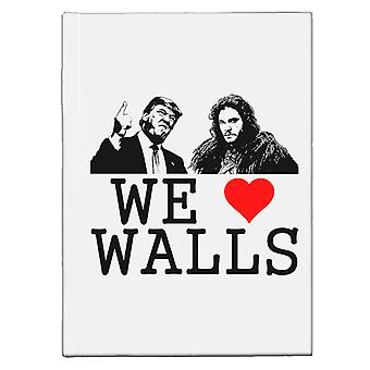 We Love Walls Jon Snow Bill Donald Trump USA Republican Hardback Journal