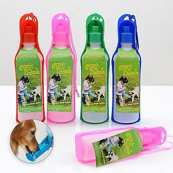 Pet Dog Cat Portatile Piegatura Bottiglia di acqua potabile per all'aperto e in viaggio