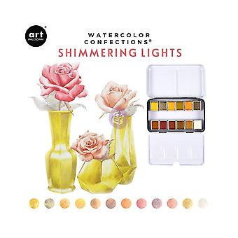 Art Philosophy Watercolor Confections Shimmering Lights