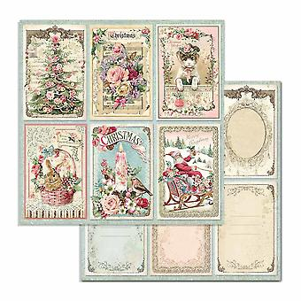 Stamperia Pink Christmas Cards 12x12 Inch Paper Sheets (10pcs) (SBB702)