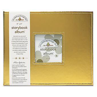 Doodlebug Design Gold 8x8 Inch Storybook Album