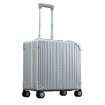 "ALEON DELUXE Wheeled Business Case 17"" Kabinentrolley 44 cm 4 Rollen, Silber"