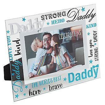 Widdop & Co. Daddy 3d Words 6 X 4 Glass Photo Frame