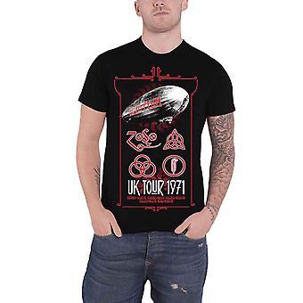 Led Zeppelin T Shirt UK Tour 71 Band Logo new Official Mens Black