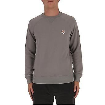 Maison Kitsuné Fm00360km0002dg Men's Grey Cotton Sweatshirt