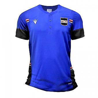 2020-2021 Sampdoria Travel Puuvilla Poolopaita (Sininen)