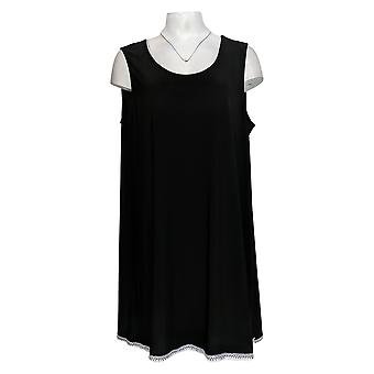 Attitudes by Renee Women's Top Como Jersey Tunic Black A353138