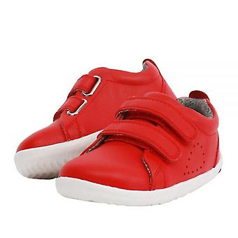 Bobux step up waterproof grass court red trainer shoes