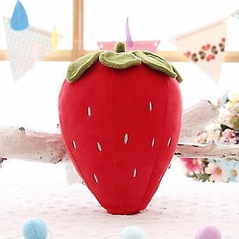 Creative Simulation Strawberry Fruit Plush Pillow - Stuffed Plush Toys For Kids