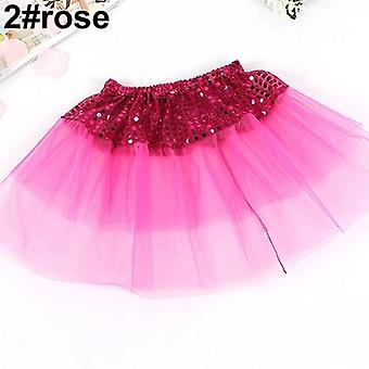 Fashion Cute Girl Kid Dance Wear Tulle Sequin Princess Tutu Skirt Party