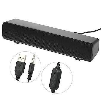 Dc 5v-600ma Usb Wired Stereo Sound Box With 3.5mm Audio Plug