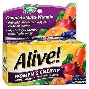 Nature's Way Nature's Way Alive! Vrouwen energie multi-vitamine multi-minerale tabletten, 50 tabs