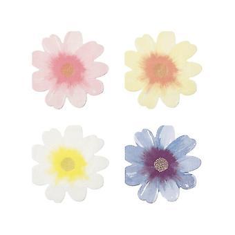 Meri Meri Flower Shaped Paper Party Napkins x 16