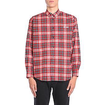 Msgm 2540me0818456712 Mænd's Flerfarvet bomuldsskjorte