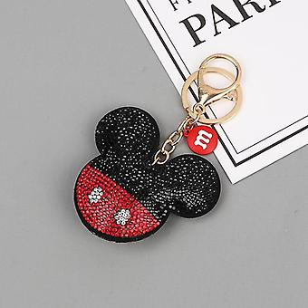 Crystal Mickey And Minnie Shape Key Chain With Lanyard