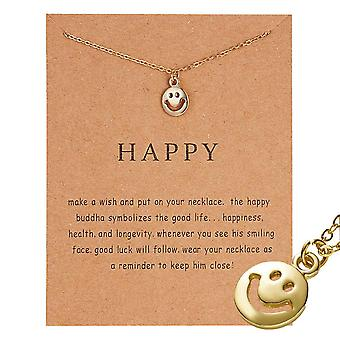 Happy - necklace with happy Buddha 18K gold plated gift