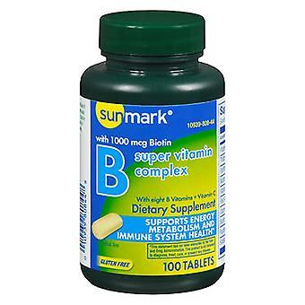 Sunmark vitamin b complex with vitamin c, tablets, 100 ea
