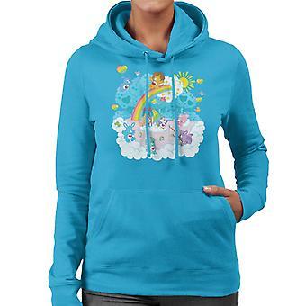 Pflege Bären Cousins Regenbogen See Frauen's Kapuzen Sweatshirt