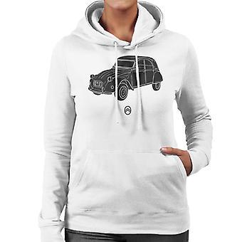 Citro?n 2CV Angle For Light Women's Hooded Sweatshirt
