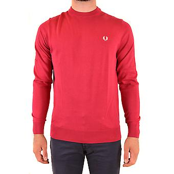 Fred Perry Ezbc094079 Men's Red Cotton Sweater