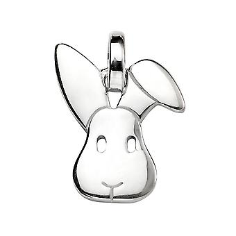 Elements Silver Bunny Pendant on a Chain of Length 46cm
