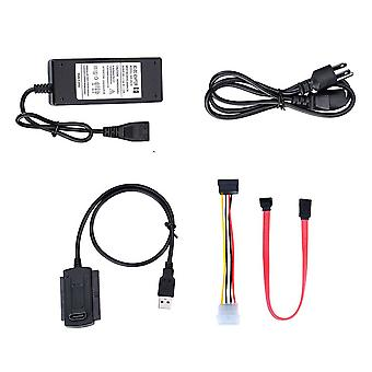 """Usb 2.0 Adapter Converter Cable For Hard Drive Disk Hdd 2.5"""" 3.5"""" With"""
