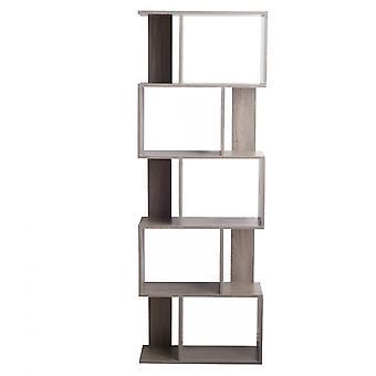 Rebecca Furniture Shelf Bleached Grey Bookcase Mdf Urban Living Room 169x60x24