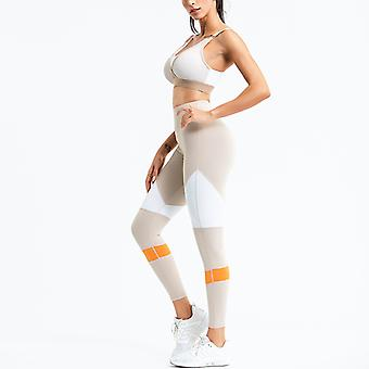 Women's Workout Outfit 2 Pieces Yoga Leggings with Sports Bra Gym Clothes Set
