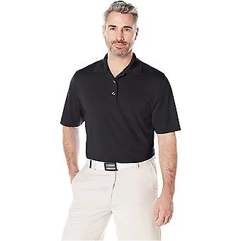 Essentials Men's Regular-Fit Quick-Dry Golf Polo Shirt, Black, XX-Large