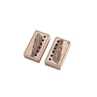 2pcs Wooden Pickup Cover Wood Electric Guitar Pickup Case Guitar Accessories