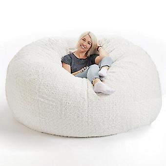Soft Fluffy Wool Fur Beanbag, Large Cashmere Fleece Living Room Lazy Sofa/party