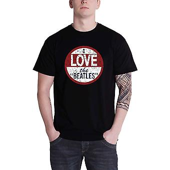 Beatles T-paita Rakastan Beatles Vintage bändi logo virallinen miesten musta