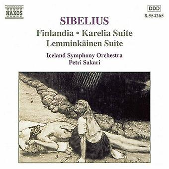 J. Sibelius - Jean Sibelius: Finlandia; Karelia Suite; Lemmink Inen Suite [CD] USA import