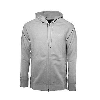 Asics stricken Zip Up Grey Cotton Mens Training Kapuzenpullover 16002 0098 A15B