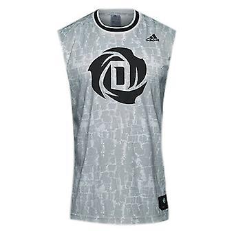 Adidas Derrick Rose Kolsuz Polyester Erkek Basketbol Forması Üst CD1472 RW36