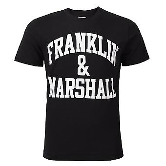 Franklin and Marshall Logo Top Short Sleeve Black Boys T-Shirt FMS0097 023