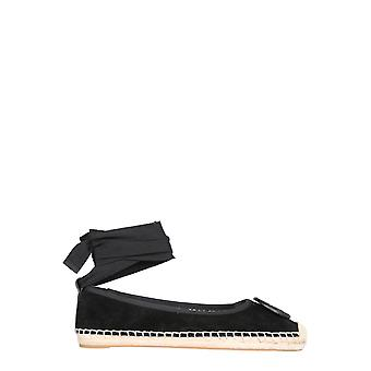 Tory Burch 78791006 Women's Black Leather Espadrilles