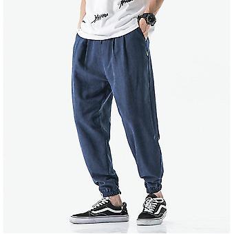 Summer Men Pants, Casual Business Trousers, Thin Loose Elastic Waist, Pencil