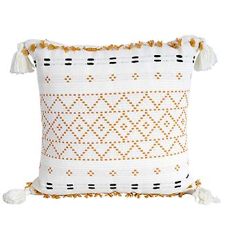 Boho Style Cushion Cover Plush With Tassels Cute Circle Moroccan Style a Pillow Cover Macrame Home Sofa Decorative