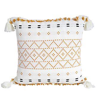 boho stil putetrekk plysj med dusker søt sirkel marokkansk stil en putetrekk macrame hjem sofa dekorative