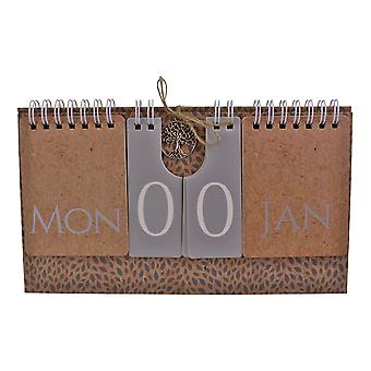 Tree Of Life Flip Freestanding Perpetual Calendar