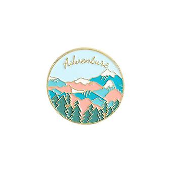 Enamel Pin, Wild Camping Hiking Brooches, Bag Clothes Lapel Pins, Adventure