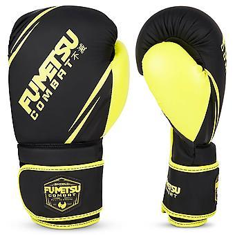 Luvas de boxe do Escudo fumetsu preto/neon