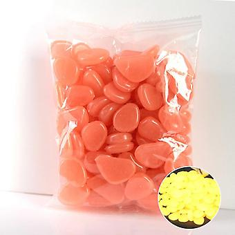 50pcs/bag Hot Luminous Glow In The Dark Garden Pebbles Glow Stones Rock