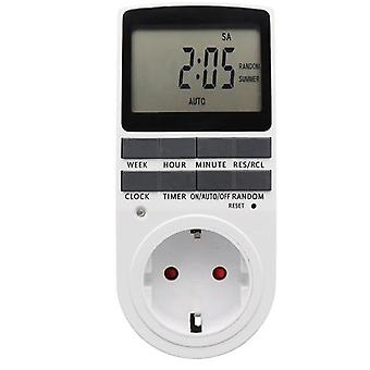Electronic Digital Timer Switch Plug Kitchen Timer Outlet Hour Programmable