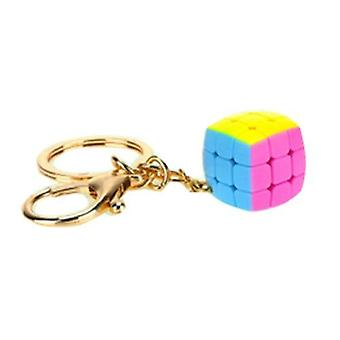 Keychain Speed Cube, Puzzle Neo Cubo Magico Learning Educational (stickerless)